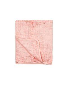 Meyco hydrofiele deken fine lines, okergeel, jeans of oudroze