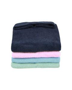 Badstof poncho - nachtblauw, aqua, roze of mint
