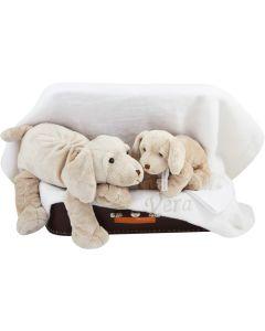 Speelgoedkoffer met luiers en knuffelhond Harold