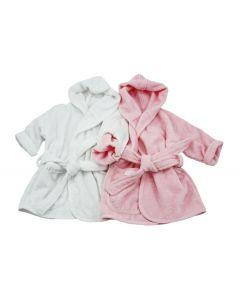 Badjasjes met naam 0 - 1 jaar, wit en div. kleuren