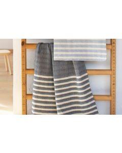 Babydeken met wafelstructuur in hamam-doek stijl, antraciet of pale blue/roomwit