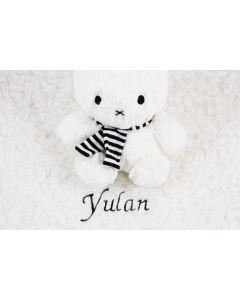 Winternijntje op teddyknuffeldoekje