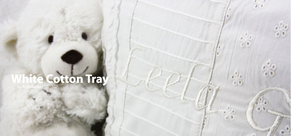 White Cotton Tray